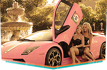 Pink Lamborghini at Serata Italiana