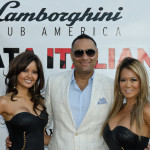 Russell Peters with Lamborghini Models