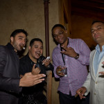 Russell Peters and Crew at Serata Italiana Glenmorangie & Cigar Tasting