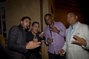 Russell Peters and Crew at Serata Italiana Glenmorangie & Cigar Tasting