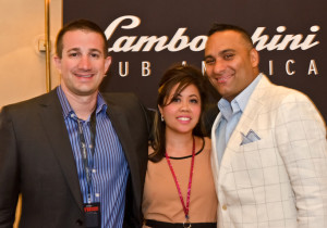 Andrew Romanowski, Joy Loo and Russell Peters at Serata Italiana Lamborghini Club Gala