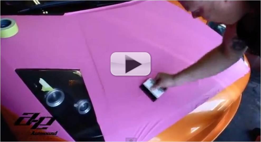 Al & Eds Autosound Pink Lamborghini Video